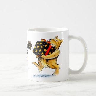 Cute Christmas Bear Art Bearing Gifts Coffee Classic White Coffee Mug