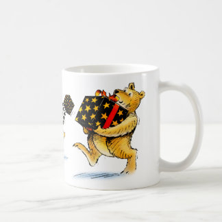 Cute Christmas Bear Art Bearing Gifts Coffee Coffee Mug