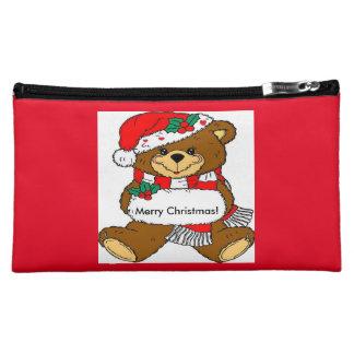 Cute Christmas Bear Cosmetic Bag