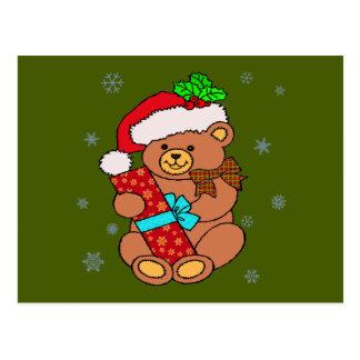 Cute Christmas Bear Postcard