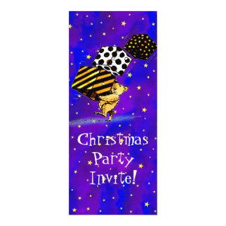 Cute Christmas Bears 4x9.25 Paper Invitation Card