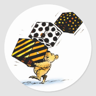 Cute Christmas Bears Classic Round Sticker