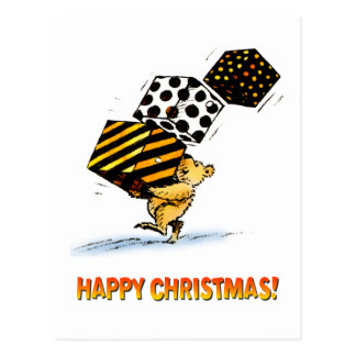 Cute Christmas Bears Postcard