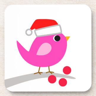 Cute Christmas Bird Drink Coaster