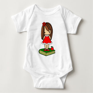Cute Christmas brown haired teacher T-shirt