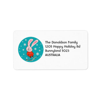 Cute Christmas Bunny Address Labels