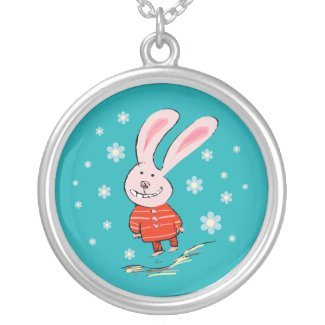 Cute Christmas Bunny Necklace necklace