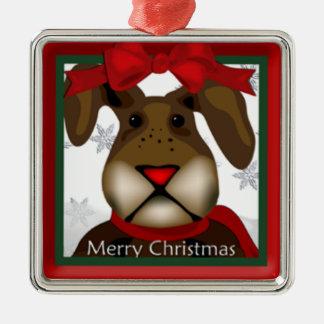 Cute Christmas Bunny Premium Ornament