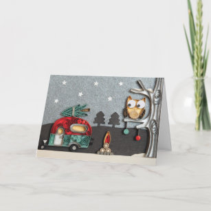 Camping Christmas Cards.Caravan Christmas Cards Zazzle