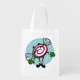 CUTE CHRISTMAS CANDY REUSABLE HOLIDAY SHOPPING BAG
