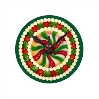 Cute Christmas Candy Wall Clock
