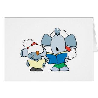 Cute Christmas Caroling Mice Card