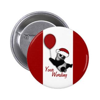 Cute Christmas cartoon bear badges Buttons