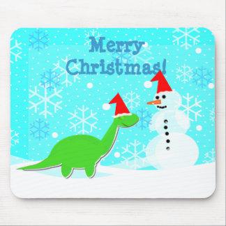 Cute Christmas Cartoon Dinosaur Kids Mousepad