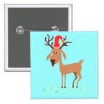 Cute Christmas Cartoon Reindeer Pin