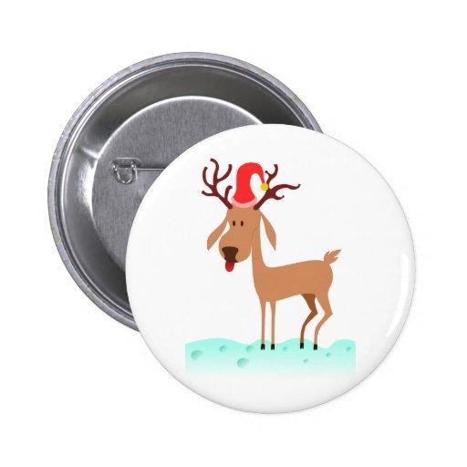Cute Christmas Cartoon Reindeer Pins