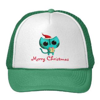 Cute Christmas Cat Trucker Hat