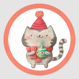 Cute Christmas Cat Stickers