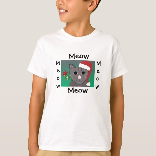 Cute Christmas Cat T-Shirt