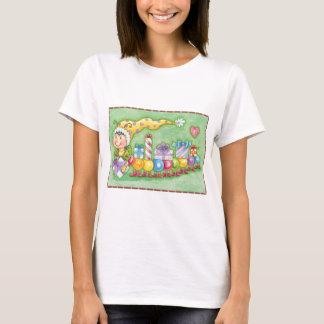 Cute Christmas Caterpillar Train with Presents T-Shirt