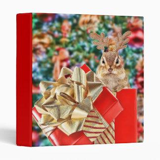 "Cute Christmas Chipmunk 1"" Photo Album Binder"