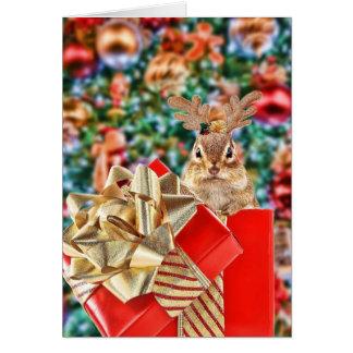 Cute Christmas Chipmunk Cards