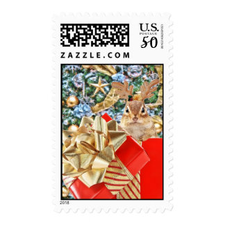 Cute Christmas Chipmunk Postage
