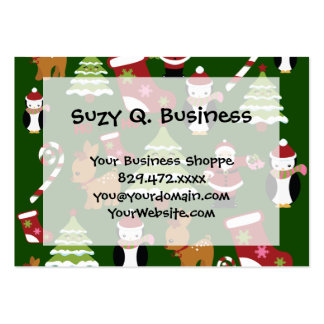 Cute Christmas Collage Design with Santa Business Cards