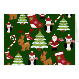 Cute Christmas Collage Design with Santa Card
