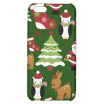 Cute Christmas Collage Design with Santa Cover For iPhone 5C