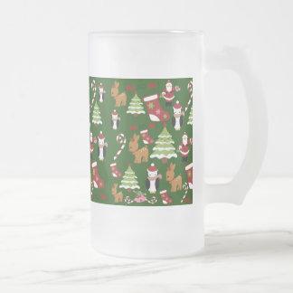 Cute Christmas Collage Design with Santa Coffee Mug