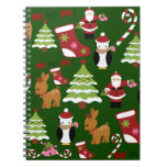 Cute Christmas Collage Design with Santa Spiral Note Book