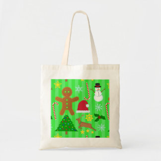 Cute Christmas Collage Holiday Pattern Tote Bag