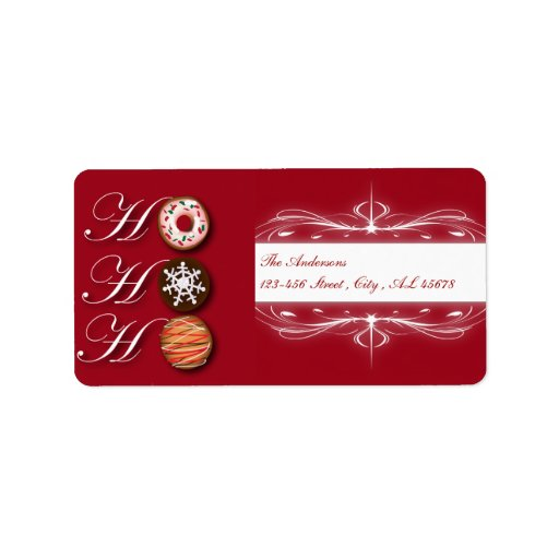 Cute Christmas Cookie Address Labels