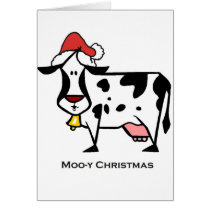 Cute Christmas Cow Card