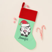 Cute Christmas Cow Christmas Stocking