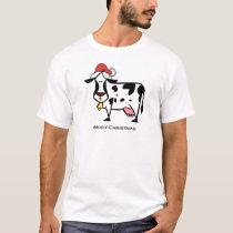 Cute Christmas Cow T-Shirt
