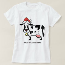 Cute Christmas Cow T-Shirt