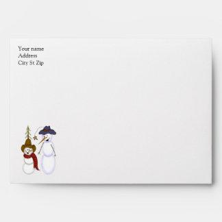 Cute Christmas Cowboy Snowman Envelope