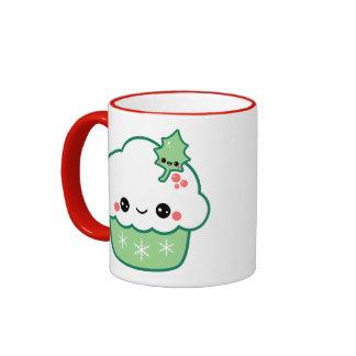 Cute Christmas Cupcake Ringer Coffee Mug