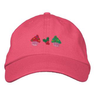 Cute Christmas Cupcakes Embroidered Baseball Cap