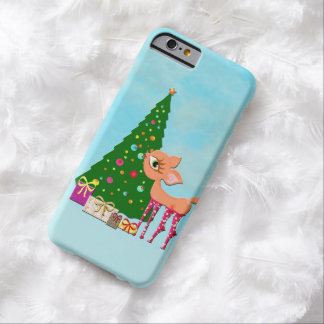 Cute Christmas deer Barely There iPhone 6 Case