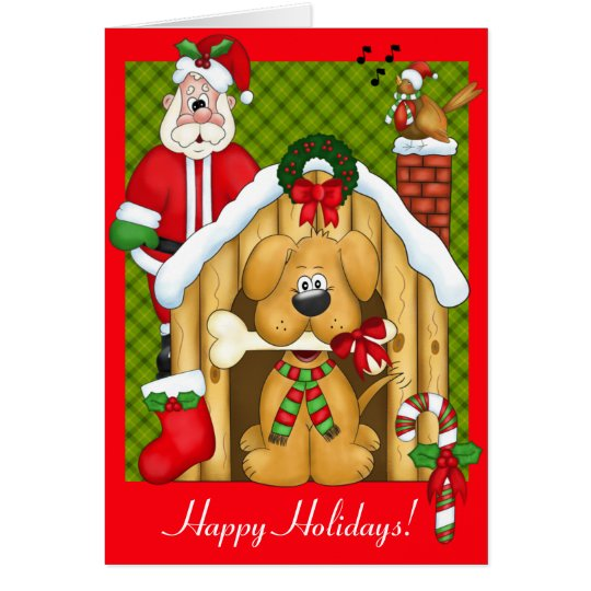 Cute Christmas Dog Card