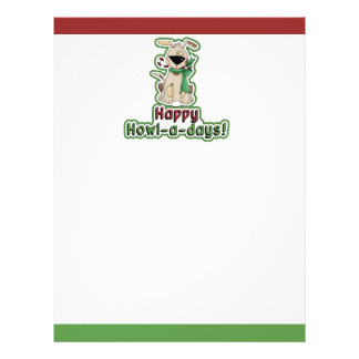 Cute Christmas Dog Letterhead