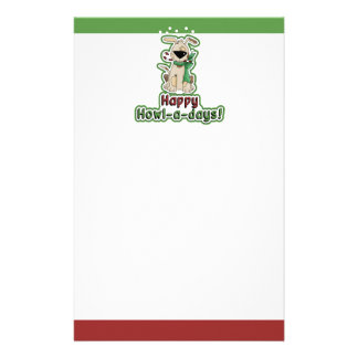 Cute Christmas Dog Stationery