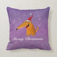 Cute Christmas Dog Throw Pillows