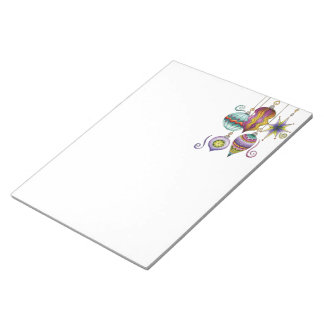 Cute Christmas, Elegant and Fancy Glass Ornaments Notepad