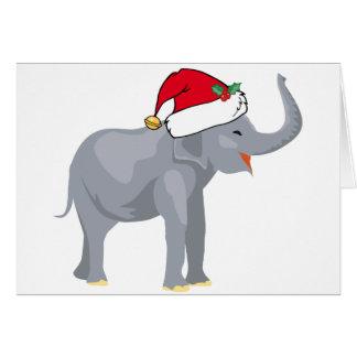 Cute Christmas Elephant Santa Card