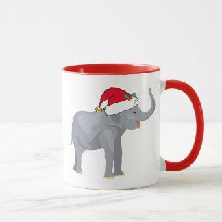 Cute Christmas Elephant Santa Mug