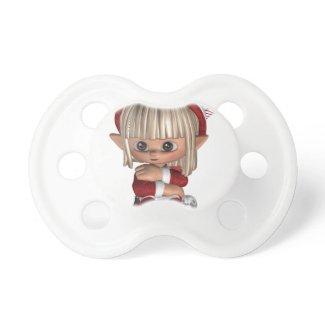 Cute Christmas Elf Baby Pacifiers